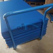 Gym mat transport cart