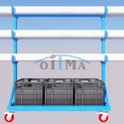Volleyball posts transport cart